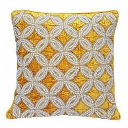 Aksamitna wyszywana koralikami poduszka Art Deco