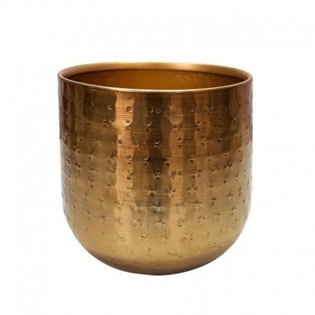 talowa złota osłonka na kwiaty h 13 cm