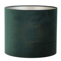 Modny welurowy abażur Ø 40 do lampy podłogowej ciemna zieleń butelkowa