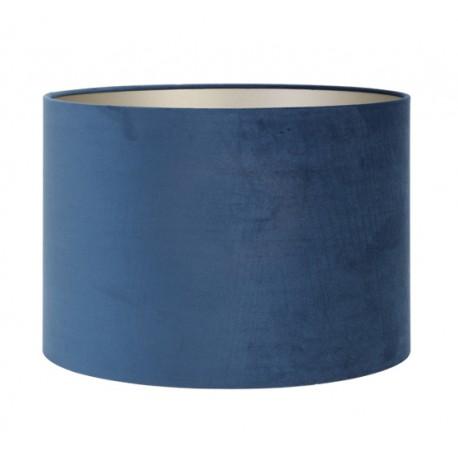 Niebieski Petrol welurowy abażur Ø40 do lampy podłogowej Hamptons
