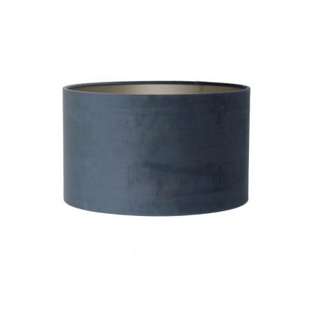 Szaro niebieski welurowy abażur Ø35 do lampy podłogowej/ zwis
