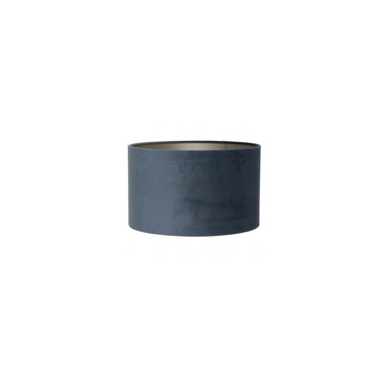 Szaro niebieski welurowy abażur Ø40 do lampy podłogowej/ zwis