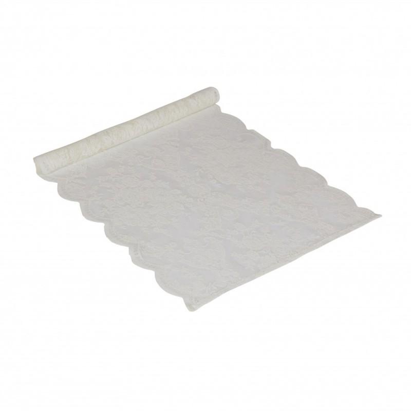Biały koronkowy bieżnik 40x90 na stół