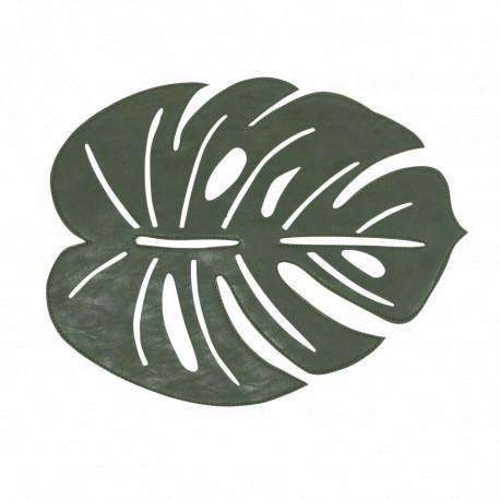 Modna zielona podkładka pod talerz w klimacie Etno