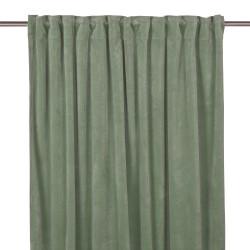 140x280 oastelowo zielona welurowa zasłona do salonu