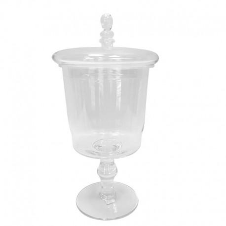 Stylowa szklana bomboniera do kuchni