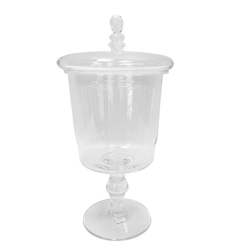 Stylowa szklana bomboniera H29 Ø 16.5 do kuchni