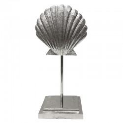 Hamptons srebrna aluminiowa  muszla na podstawie h38