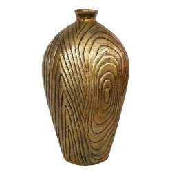 Art Deco złoty wazon z aluminium h32