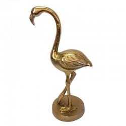 Art Deco złoty dekoracyjny flaming na podstawie