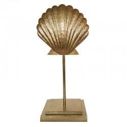 Art Deco Złota dekoracyjna muszla na podstawie