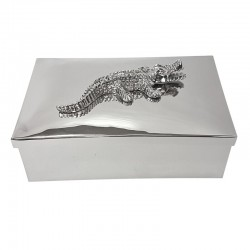 Luksusowe metalowe pudełko szkatuła na toaletkę 23.4x14.5x8