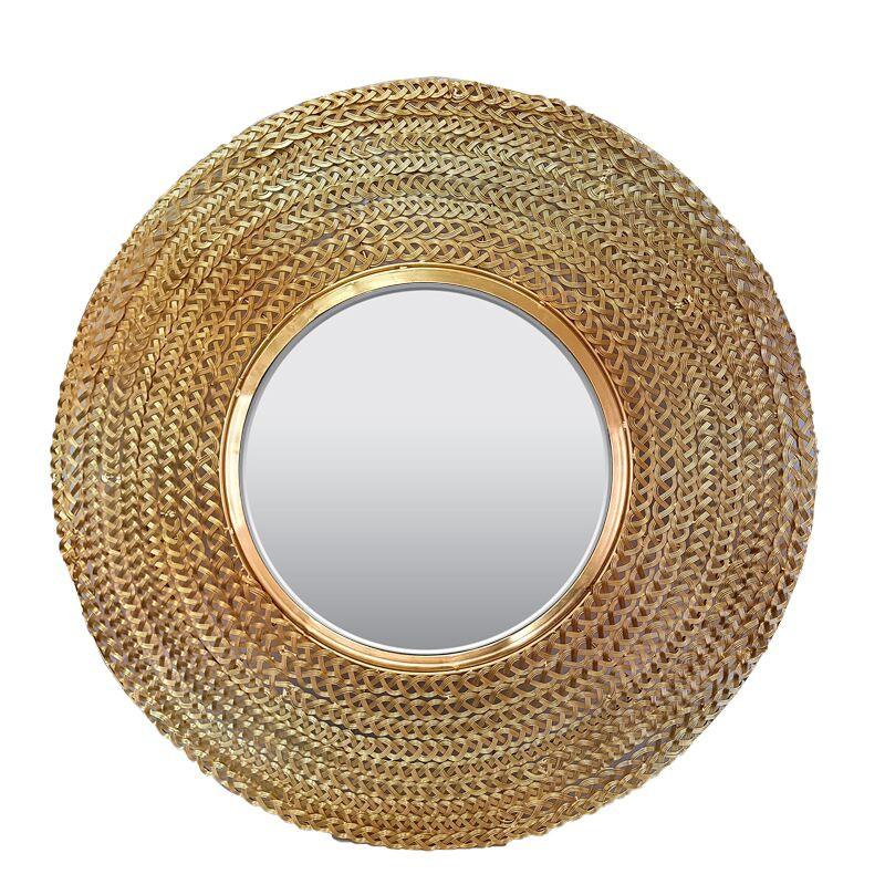 Modne ubrania Modne luksusowe złote lustro metalowa rama Art Deco 329-18-006-gold YL27