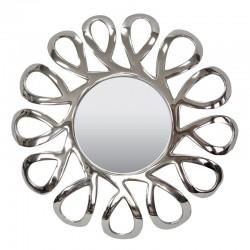Niklowane lustro Ø56 nad konsolę toaletkę