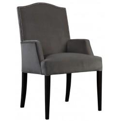 Luksusowy fotel tapicerowany z taśmą pineskową