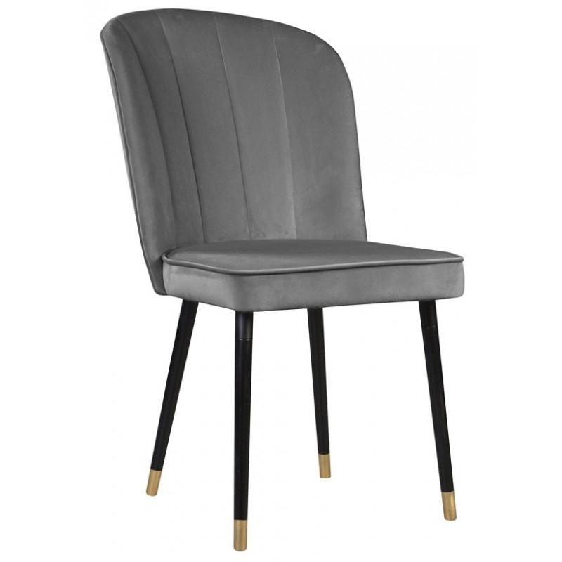 Szare nowoczesne eleganckie krzesło tapicerowane