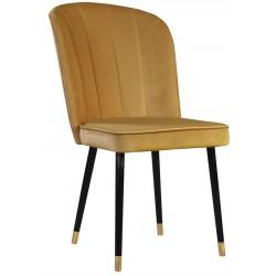 Żółte nowoczesne eleganckie krzesło tapicerowane