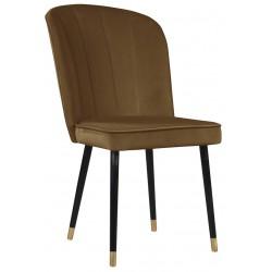Brązowe nowoczesne eleganckie krzesło tapicerowane