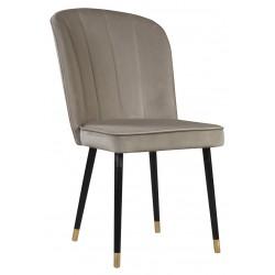 Beżowe nowoczesne eleganckie krzesło tapicerowane