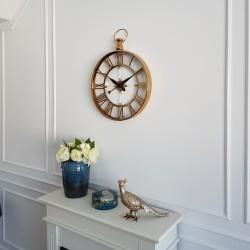 Elegancki złoty zegar do salonu