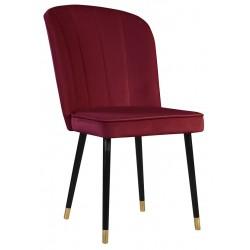 Bordowe nowoczesne eleganckie krzesło tapicerowane