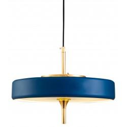 Złoto niebieska lampa wisząca do salonu w stylu Holywood