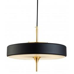 Złoto czarna lampa wisząca do salonu w stylu Hollywood