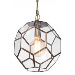 Szklana lampa wisząca Vintage Art Deco