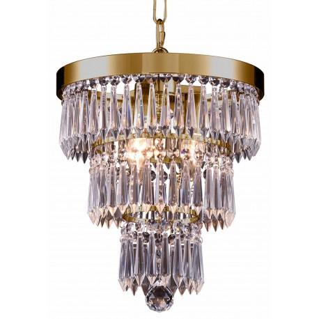 Kryształowa lampa wisząca nad stół w stylu Holywood