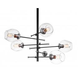 Elegancka nowoczesna szklana lampa do salonu industrialnego