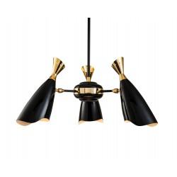 Luksusowy czarno-złoty żyrandol do nowoczesnej jadalni