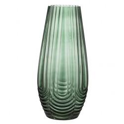 Modny szklany zielony wazon Lene Bjerre