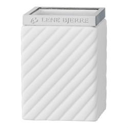 Luksusowy biały kubek na szczoteczki do łazienki
