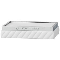 Biała luksusowa ceramiczna mydelniczka do łazienki New York