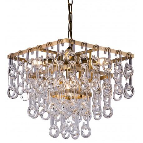 Luksusowy złoto szklany żyrandol w stylu Art deco