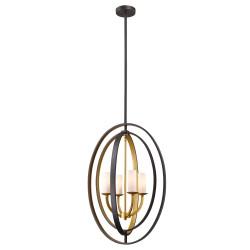 Hamptons luksusowa czarno złota lampa wisząca na klatkę