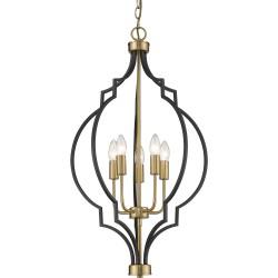 Luksusowa h80 czarno-złota lampa marokańska koniczyna