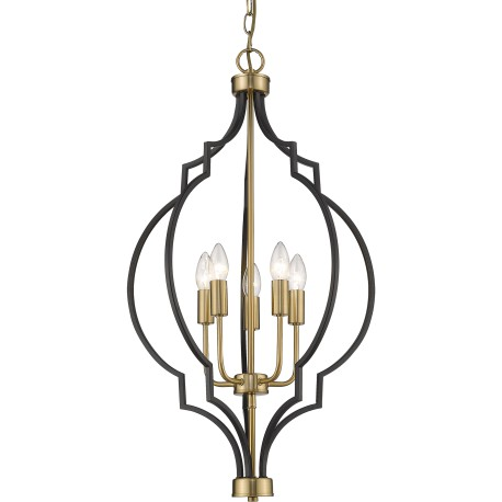 Luksusowa czarno-złota lampa marokańska koniczyna