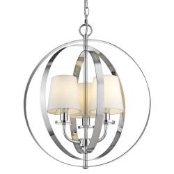 Luksusowa lampa wisząca chromowane obręcze