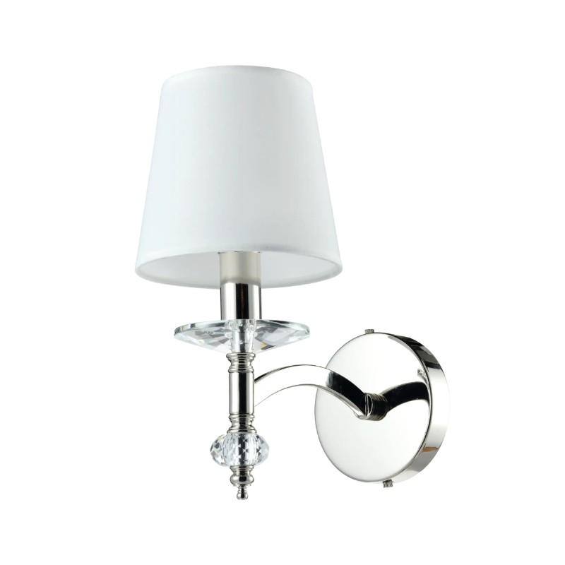 Modern Classic  kinkiet do sypialni z abażurem kryształowy