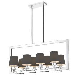 Długa nowoczesna lampa nad słół czarne abażurki