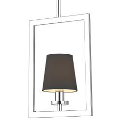 Nowojorska lampa wisząca nad stół czarny abażur