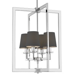 Nowojorska lampa nad stół czarne abażurki