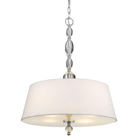 Lampa nad stół kryształ biały abażur NewYork