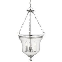 Elegancka szklana lampa nad stół do jadalni