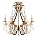 Niklowany złoty żyrandol kryształowe sople