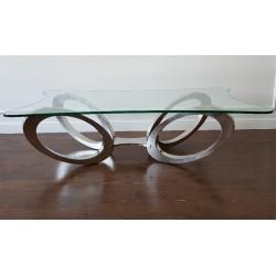 Luksusowa desingierska szklana ława do salonu