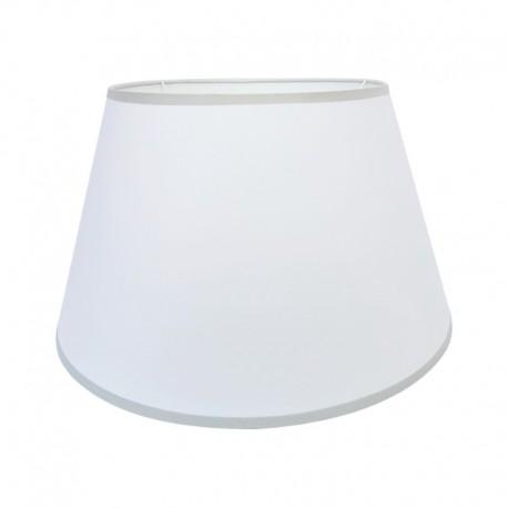 Biały abażur Ø 35 z szarą lamówką na lampę stołową/stojącą