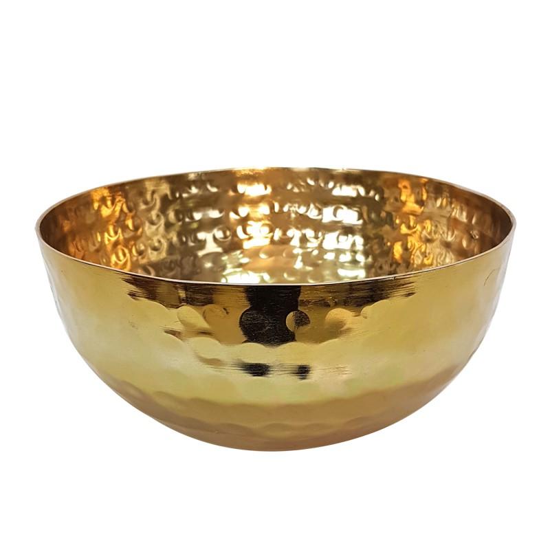 Złota metalowa misa osłonka na kwiat