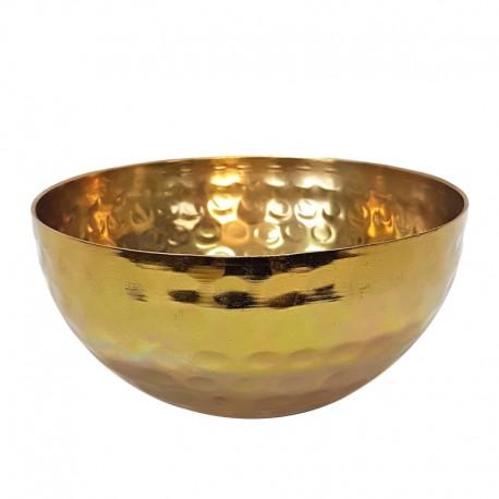 Złota metalowa misa osłonka Art Deco